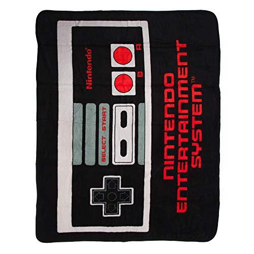 "Bioworld Nintendo Retro NES Controller Throw Blanket, 48"" x 60"" from Bioworld"