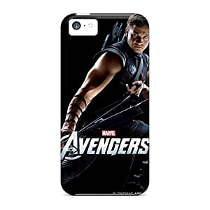 Shock Absorbent Hard Phone Covers For Apple Iphone 5c (TPj12502QDAM) Unique Design Lifelike The Avengers Hawkeye Pattern