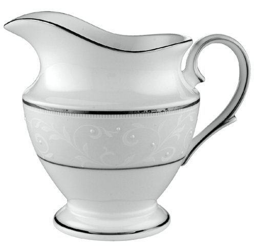 Lenox Opal Innocence Platinum-Banded Bone China Creamer