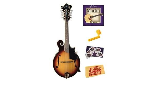 Amazon com: Washburn M3SWK Florentine Mandolin Bundle with