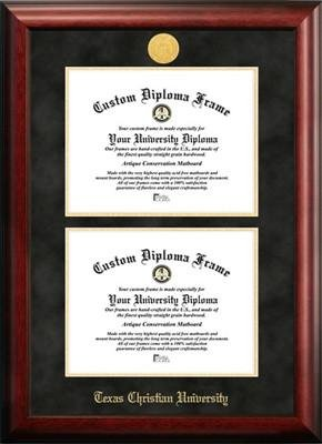 Texas Christian University Double Degree Diploma Frame by Diploma Frame Deals