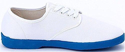 Zig Canvas Mens White Sole Blue Wino Zag fwrfOCq1