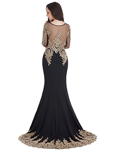 MisShow Black Mermaid Evening Dress for Women Formal Long Prom Dress 2017 by MisShow (Image #5)'
