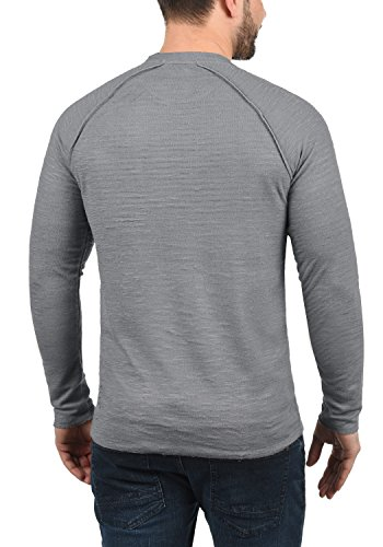 Rond 100 solid Mid En 2842 shirt Coton Sweat Grey Encolure Don Sweat Pull Homme wwBZ8qzP