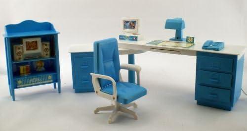 Computer Desk and Room Barbie Compatible Furniture Set