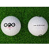 CUSHY New 2Pcs Golf Balls Beginners PractDriving Range Training Double Layer Ball Rubber Wholesale: White