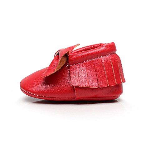 AngelaKerry - Zapatos primeros pasos de Otra Piel para niño Red