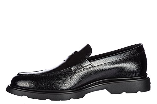 Hogan Mocassini Di Pelle Nera Pantofola
