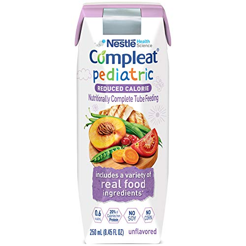 (Compleat Compleat Pediatric Reduced Calorie, Unflavored 24 X 250 Ml Tetra Prisma, 24 Count)