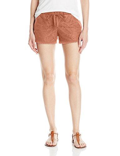 Jolt Women's Leaf Lace Short, Clay Large