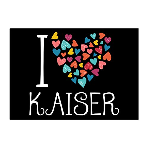 Idakoos - I love Kaiser colorful hearts - Last Names - Sticker Pack (Kaiser Heart)