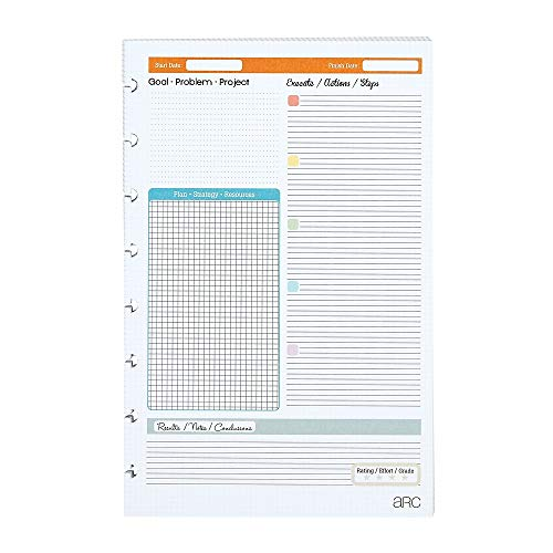Staples Arc Notebook Project Planner Filler Paper, Junior-sized, White, 50 - Paper Staples Heavyweight
