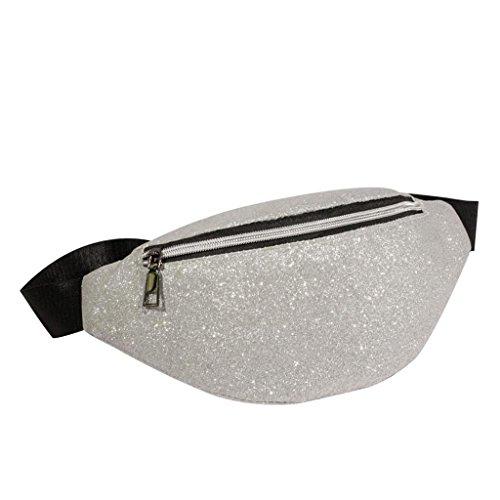 Bag Femmes Argent Sac Bag Bling Messenger bandoulière Mode Sacs BandoulièRe Trydoit Cuir à Sequins Chest AqvwBx