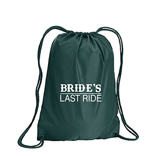 Brides Last Ride Cinch Pack in Forest Green - Small 14x18