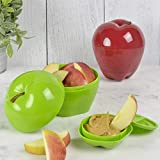 Hutzler Snack Attack Apple & Dip To-Go Set, Red