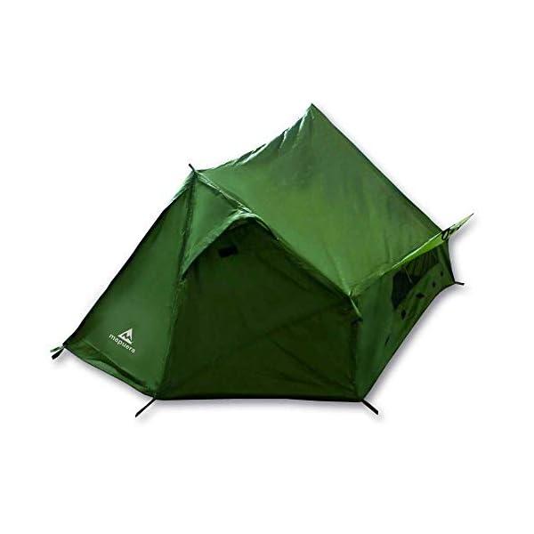 mapuera, Tienda de campaña Trek Santiago - Color Verde, 1,15 kg de Peso, Plegado Compacto, la Tienda de campaña… 3