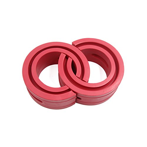 Spring Rubber - uxcell Type-C Red Car Rubber Shock Absorber Spring Bumper Buffer Power Cushion 2pcs