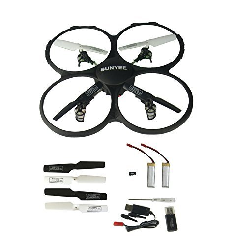 SUNYEE Sky Carrier U818A 2.4-GHz 4-Channel 6-Axis Gyro RC Quadcopter with Camera UFO Drone