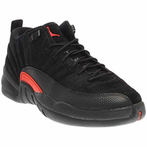 Jordan New Nike Kid's Air 12 Retro Low BG Basketball Shoe Black/Max Orange 7 (Retro Air Low Jordan Xii)