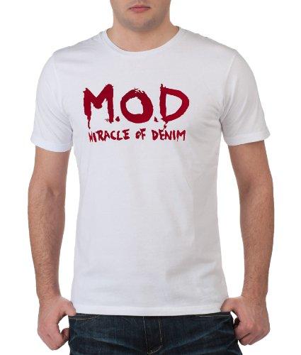 M.O.D Jeans Herren Denim Hose Monopol 2012 Star MOD 2274 weiß D.G