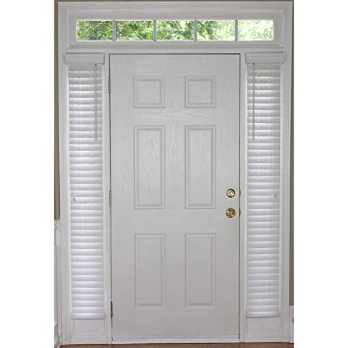 2 White Faux Wood Plantation Sidelight Blinds Room Darkening 9