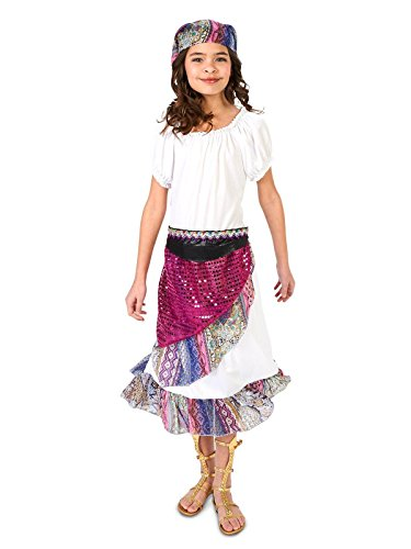 Fortune Teller Costume For Girls - Boho Gypsy Child