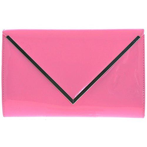 MOD - Cartera de mano para mujer rosa pastel