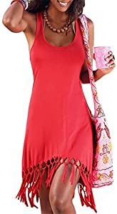 onlypuff Beach Dresses for Women Sleeveless Casual… Sweepstakes