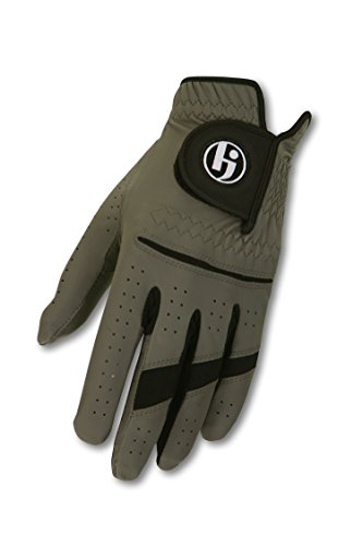 HJ Glove Men's Gripper II Golf Glove, Left Hand, Medium/Large, Steel Grey