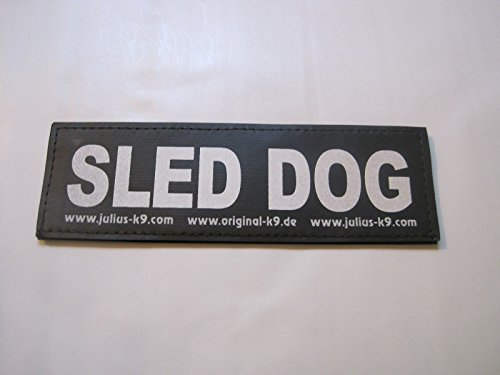 Sled Dog (Large) Labels for K-9 Harnesses Package of 2