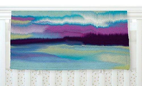 KESS InHouse Nina May Artika Blue Teal Purple Fleece Baby Blanket 40 x 30 [並行輸入品]   B077Z37HJ2