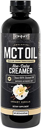 Onnit Emulsified MCT Oil - Mixes Instantly in Coffee and Shakes - Vanilla (16oz)