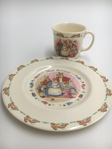Edwin M Knowles China Company Royal Doulton Bunnykins Two Piece Mug and Plate Set-New Arrival 1040