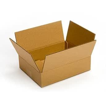 "Pratt PRA0028 100PK 100% Recycled Corrugated Cardboard Box, 10"" Length x 7"" Width x 3"" Height, Kraft (Pack of 100)"
