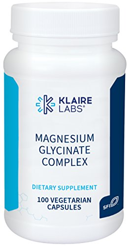 Klaire Labs Magnesium Glycinate Complex - 100 mg Chelated Blend, Easy on The Stomach (100 Capsules)