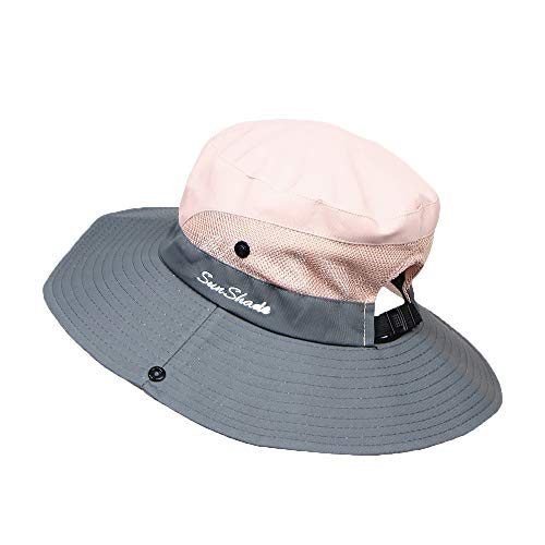 CCSDR Canvas Hat for Baby Boy Girl Summer Outdoor Mesh Foldable Flat Brim Hiking Camping Sun Protection Fishermen Hat Pink