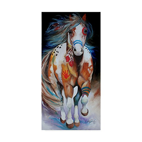 (Trademark Fine Art Brave The Indian War Horse by Marcia Baldwin Fine Art, 16