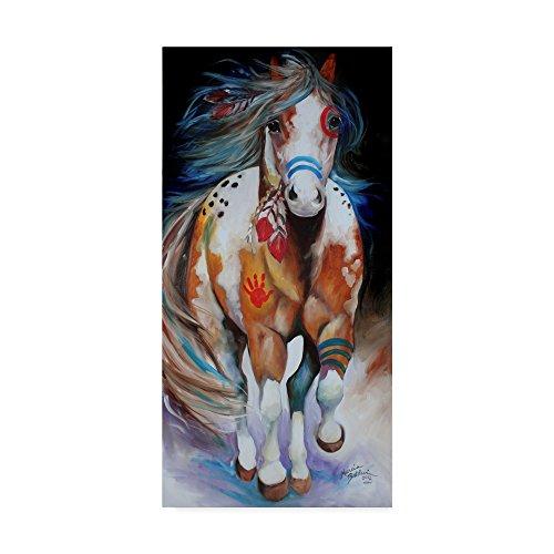 Trademark Fine Art Brave The Indian War Horse by Marcia Baldwin Fine Art, 16