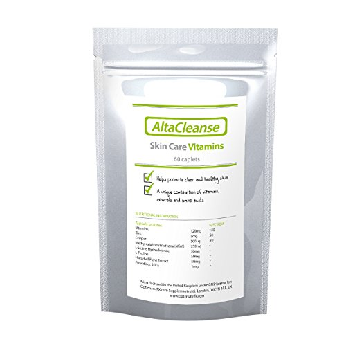 AltaCleanse Skin Care Vitamins For Spots and Blackheads 30 Days to Clear...