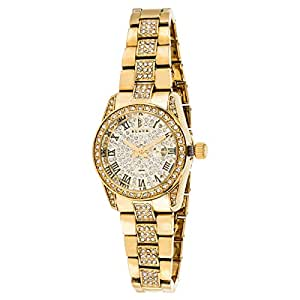 Black Royale Women's Gold Dial Brass Band Watch - BR2013LS