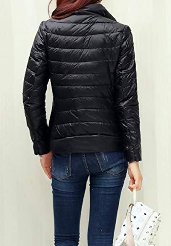 Ultra Di Compattabile Leggere Howme donne Nera Formato Coreana Colletto Giacche Invernale Peluria Più Alla BSz0q4