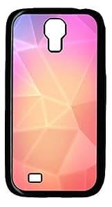 Pink diamond background Custom Samsung Galaxy I9500/Samsung Galaxy S4 Case Cover Polycarbonate Black