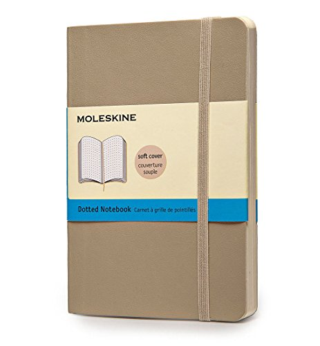 Moleskine Classic Colored Notebook, Pocket, Dotted, Khaki Beige, Soft Cover (3.5 x 5.5)