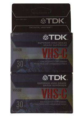 TDK High-Grade VHS-C Tape - 2 Pack