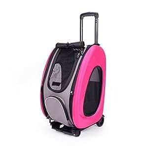 Ibiyaya EVA Pet Carrier/Wheeled Carrier, Hot Pink