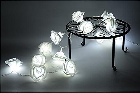 Night Light 20 x LED Novelty Rose Flower Fairy String Lights Wedding Garden Party Christmas Decoration - Ultra Pro Mini Helmet