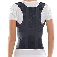 "Comfort Posture Corrector Brace / 100% - Cotton Inner Layer - Black, X-Small, Waist 23½"" - 27½"""