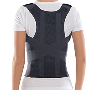 TOROS-GROUP Comfort Posture Corrector Clavicle and Shoulder Support Back Brace, Upper and Lower Back Pain Relief, Fully Adjustable for Men and Women, Thoracic Kyphosis M /656A-3
