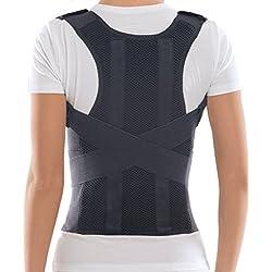 "TOROS-GROUP Comfort Posture Corrector Brace/100%-Cotton Liner, Waist/Belly 40"" - 43 1/2"", X-Large, Black"