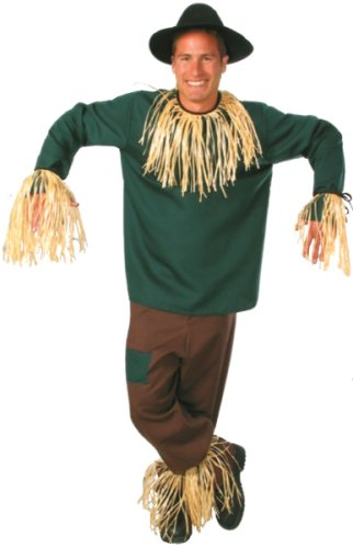 [Large Men's Deluxe Scarecrow Costume (Size 44 to 46)] (Male Scarecrow Costume)